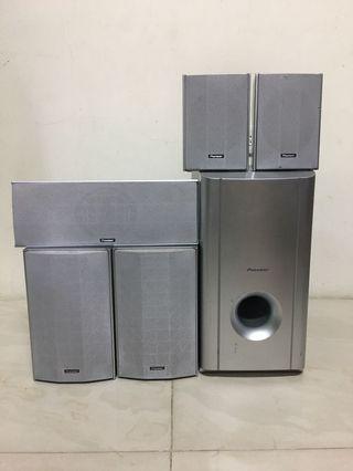 Pioneer 5.1 speakers subwoofer 先鋒劇院喇叭音響 重低音