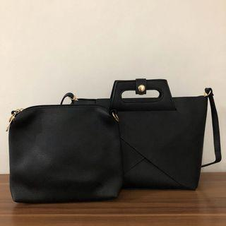 Tas Hitam Import! Free Pouch NEW