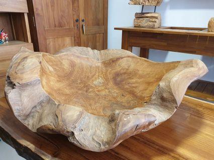Natural Teak Wood Bowl