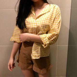 Yellow Tartan Kinda Shirt