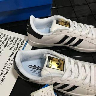 Adidas Originals Superstar 余文樂 白黑 金標 經典款 小白鞋 男鞋 女鞋 貝殼頭 金標板鞋