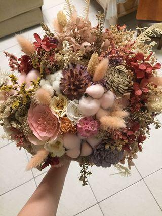 浪漫新娘乾燥捧花💐(粉色系)