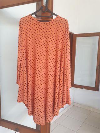 Tunik orange kaos