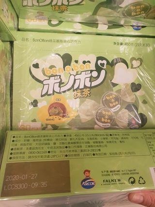 日本美食:抹茶巧克力(綠茶慕斯夾心)450公克原價330,特價2包329,期限到2020/1/27