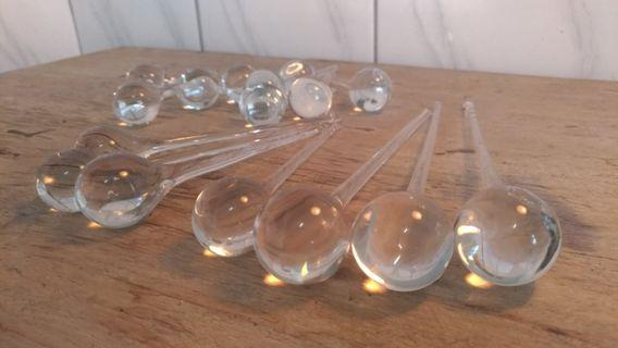 玻璃淚珠造型吊飾—古物舊貨、早期玻璃藝品相關收藏