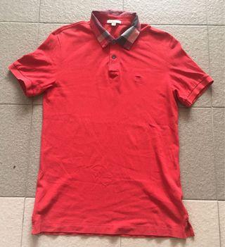 Authentic Burberry red Brit shirt made in peru