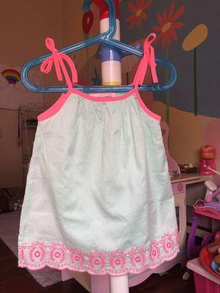 Embroidered Dress in Mint Green for 24 months old