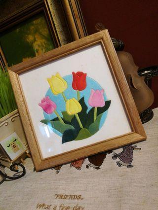 Japan Handmade floral pic 17x17cm