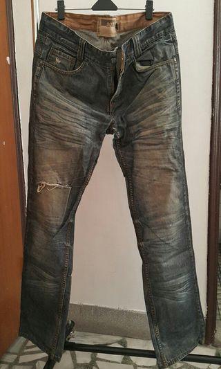 【廣結良源】街頭個性 破洞 牛仔褲