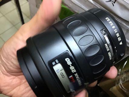 鏡頭 Pentax 28 80mm af pk 含保護鏡 無前後蓋