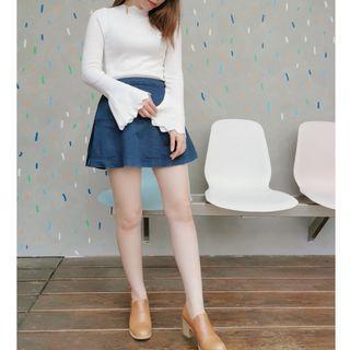 【3件現折200】韓國設計‧花瓣 針織衫 花瓣袖 花瓣領 打底針織 針織上衣