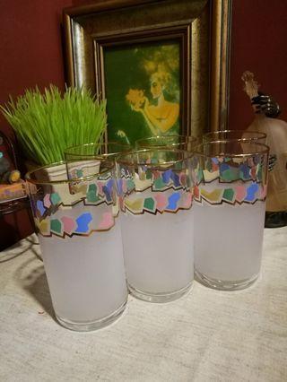 Japan Pierre cardin  glassware tumbler sets  x 6pcs