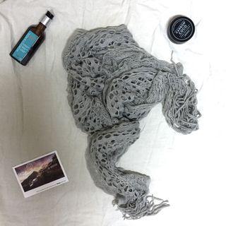 《免運》灰色圍巾#五折清衣櫃