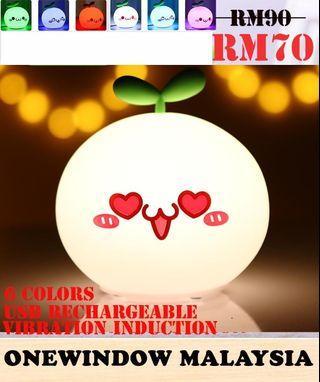 Cute White Dumpling Silica 6 Colors Night Lamp-Love Eyes