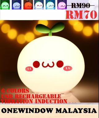 Cute White Dumpling Silica 6 Colors Night Lamp- Cute Model