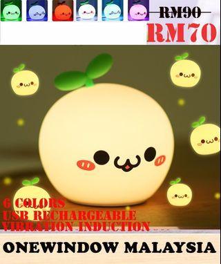 Cute White Dumpling Silica 6 Colors Night Lamp-Play Tougue