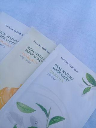 (BUY5 GET1 FREE) Nature Republic Real Nature Sheet Mask