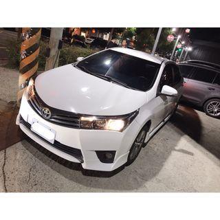 【FB搜尋桃園阿承】豐田 超人氣ALTIS E版 2014年 1.8 白色 二手車 中古車