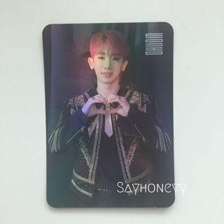 Monsta X Wonho We Are Here hologram photocard