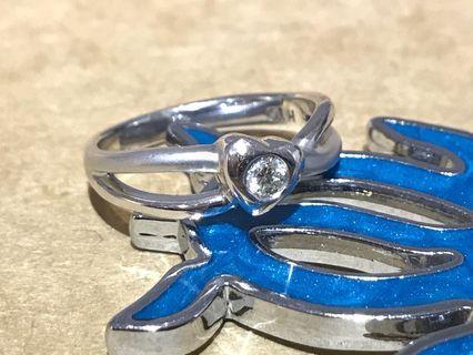 18k金鑽石戒指 10圍 10分