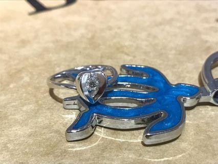 18k金鑽石戒指 11.5圍 10分