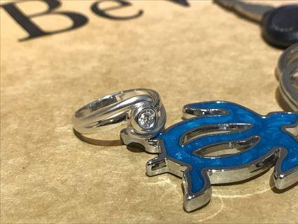 18k金鑽石戒指 11圍 10分