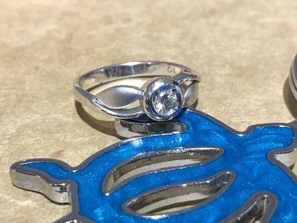 18k金鑽石戒指 10.5圍 10分