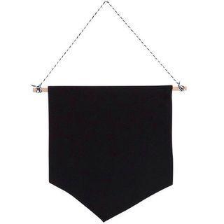 Pin display - banner - flag - black - enamel pin - badge collection wall display