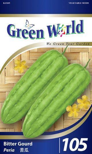 Green World 10 Seeds - Biji Benih Peria Bitter Gourd