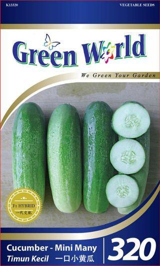Green World 20 seeds - Biji Benih Timun Kecil Mini Cucumber