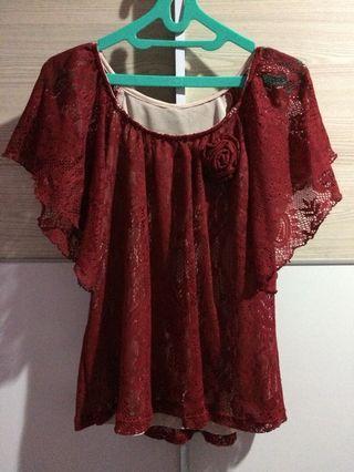 Baju brukat merah