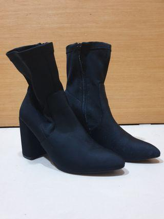 Asos Black Heeled Boots