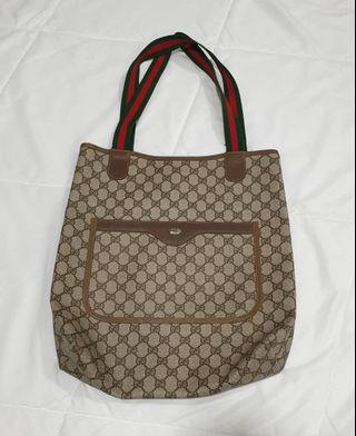AUTH VTG GUCCI ACCESSORIES GG COLLECTION PATTERN SHOULDER TOTE BAG