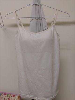 內衣背心米白棉