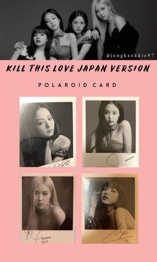 WTB BLACKPINK KILL THIS LOVE JAPANESE VERSION POLAROIF PHOTOCARD