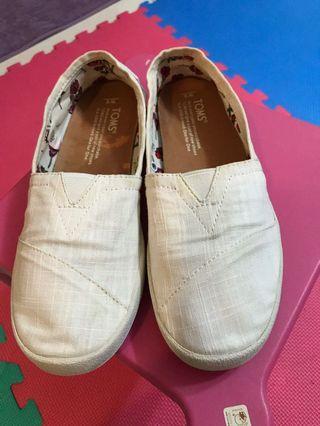Toms懶人鞋-白色