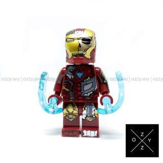 Lego Compatible Marvel Minifigures : Iron Man (Dead)