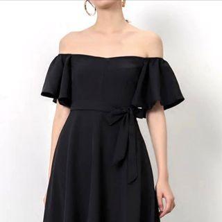 🆕 Black off shoulder dress