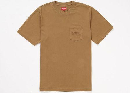 SUPREME OVERDYED POCKET TEE