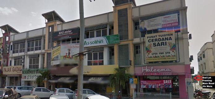 End Lot Office In Klang Sentral, Klang, Facing Main Road Of Jalan Meru, Klang