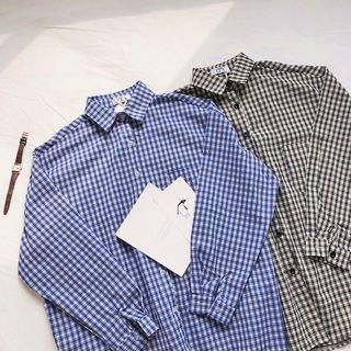 (黑)全新出清🔥Chirp|韓系寬鬆 顯瘦百搭 女 長袖襯衫/外套 SA35
