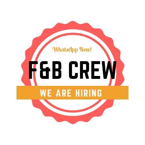 30 X F&B Crew Wanted! (Jap Restaurant/Fast food!)