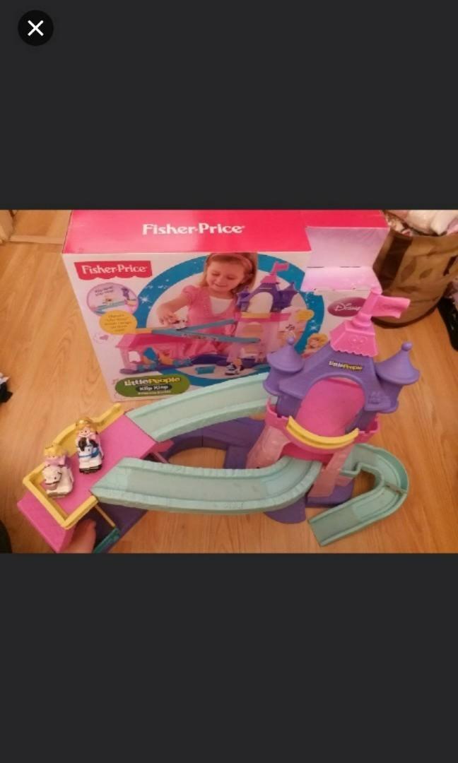 原價699 有盒 Fisher price 費雪牌 正版 女童 城堡玩具 馬會慢慢向下行  有燈有音樂