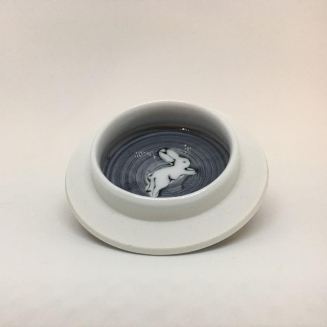 日本製有田燒羽兔瓷壺