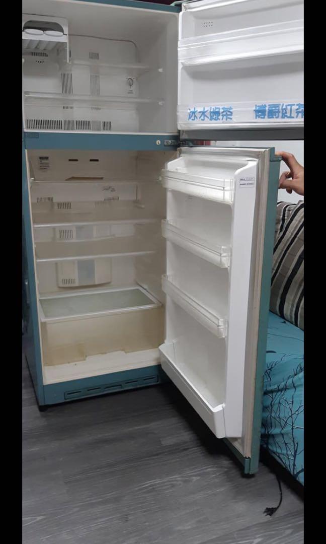 便宜綠色冰箱_功能正常_台北自取1500元