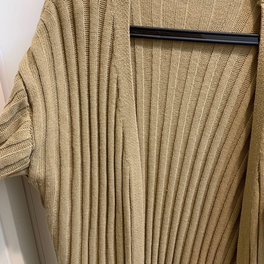 長版針織外套   #二手