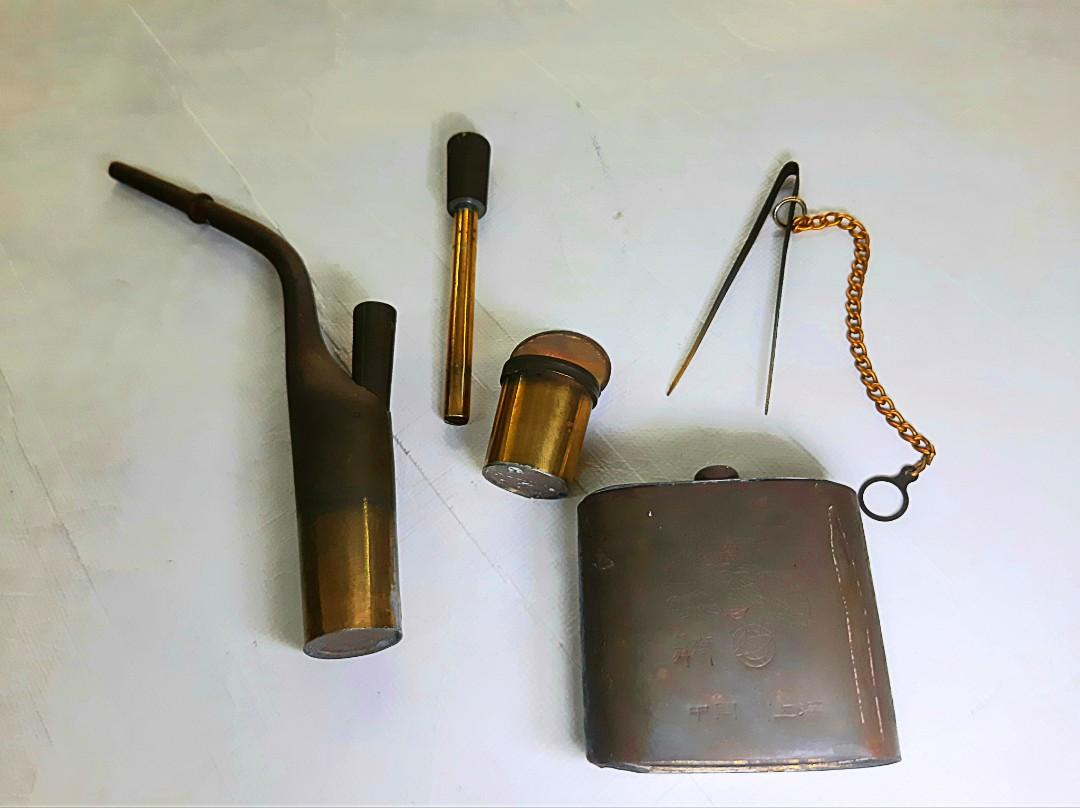 Antique old copper pipe