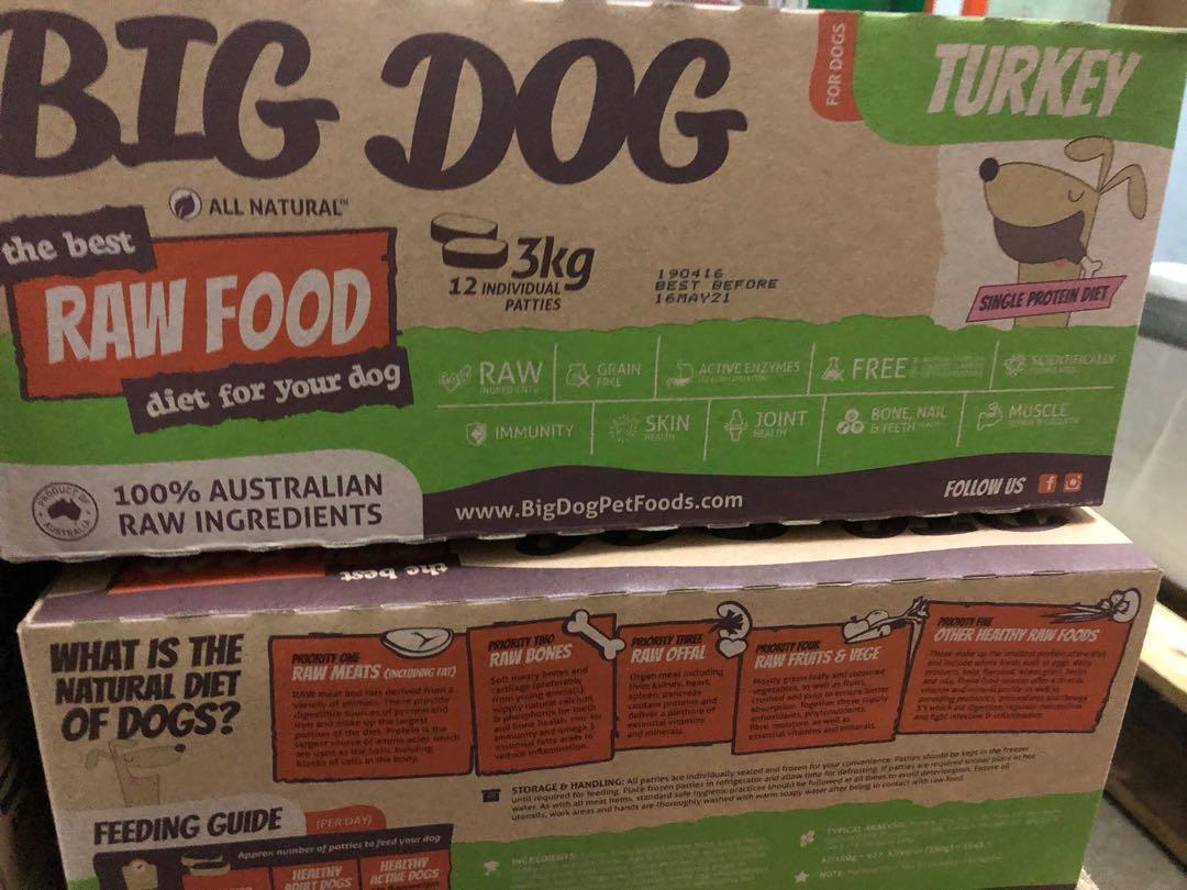 Big Dog 急凍生肉狗糧 (火雞味)