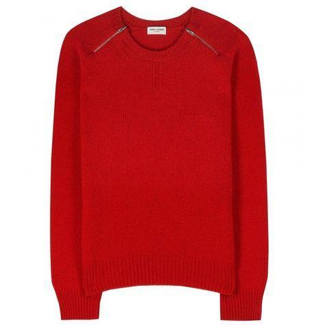 BNWT Saint Laurent red wool & cashmere sweater size XS / S