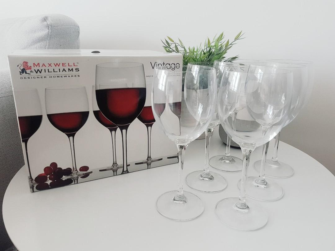 Brand New Maxwell & Williams Vintage Wine Glasses 350ml